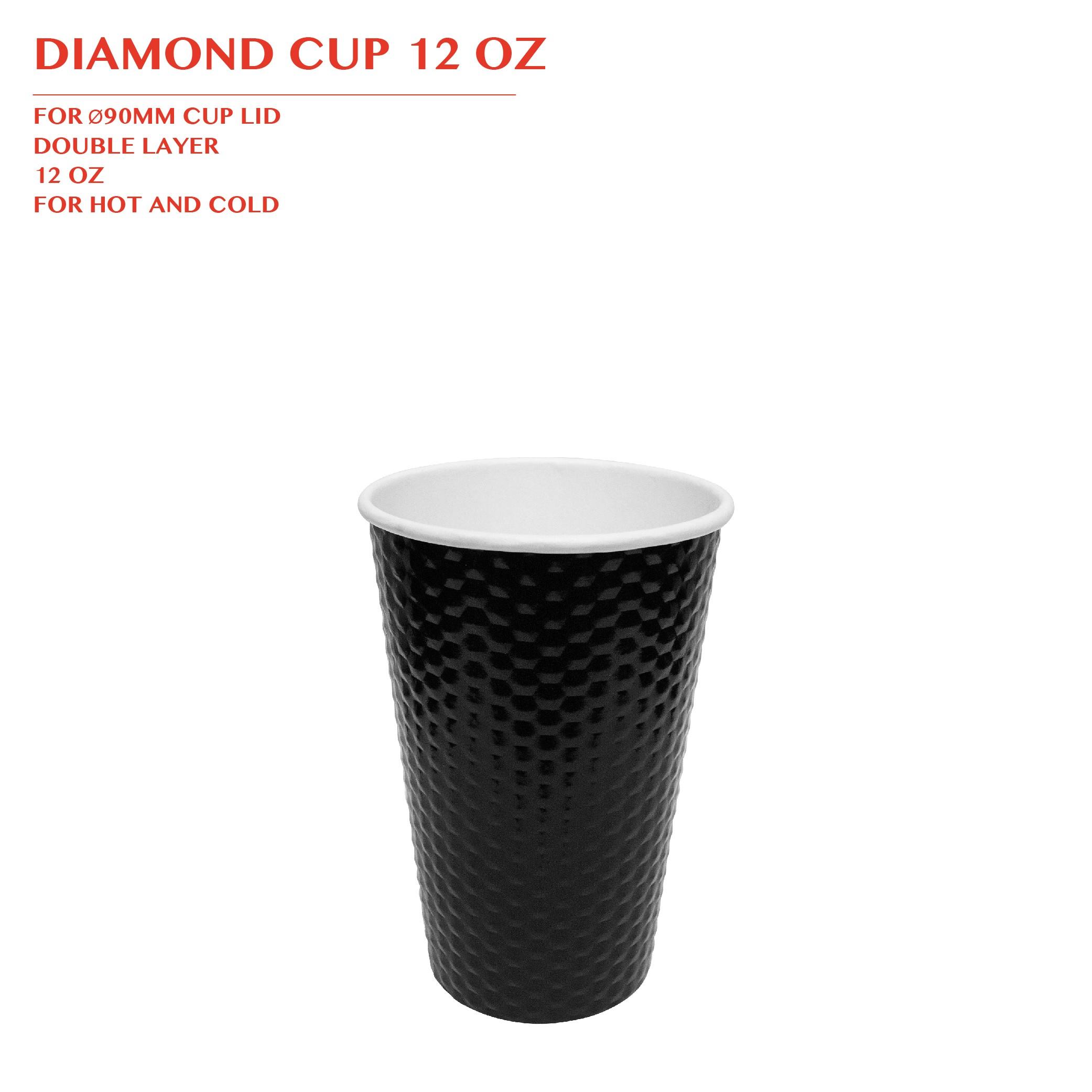 PRE-ORDER DIAMOND CUP 12 OZ 1000PCS/CTN