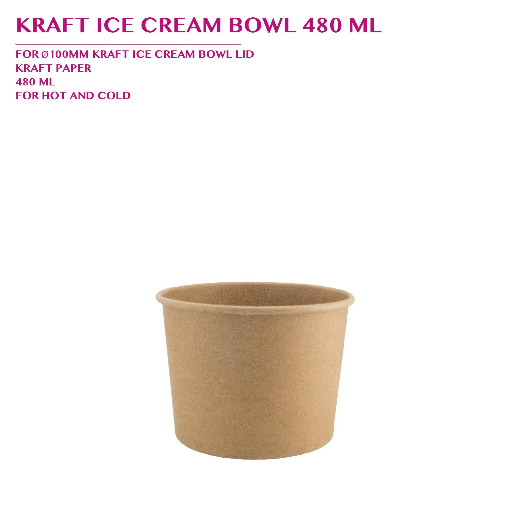 PRE-ORDER KRAFT ICE CREAM BOWL 480 ML PCS/CTN