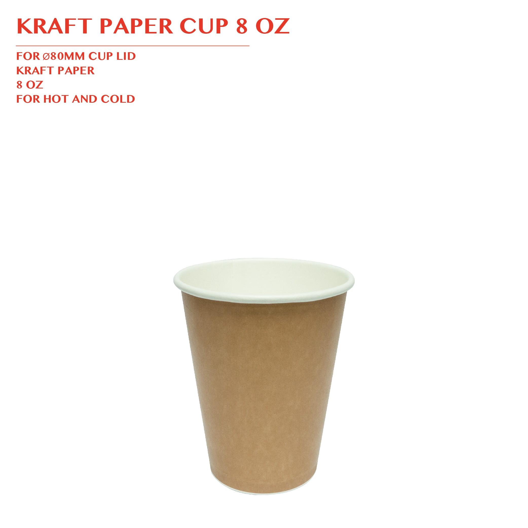 PRE-ORDER KRAFT PAPER CUP 8 OZ 1000PCS/CTN