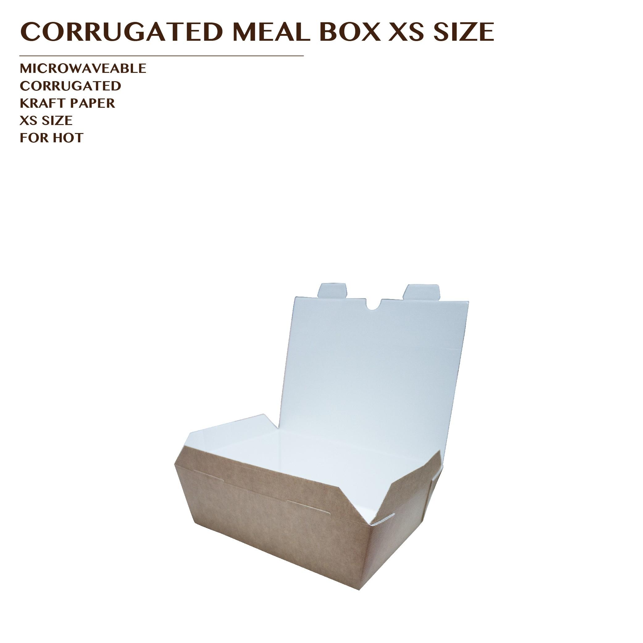 PRE-ORDER CORRUGATED MEAL BOX KRAFT XS SIZE 1000PCS/CTN