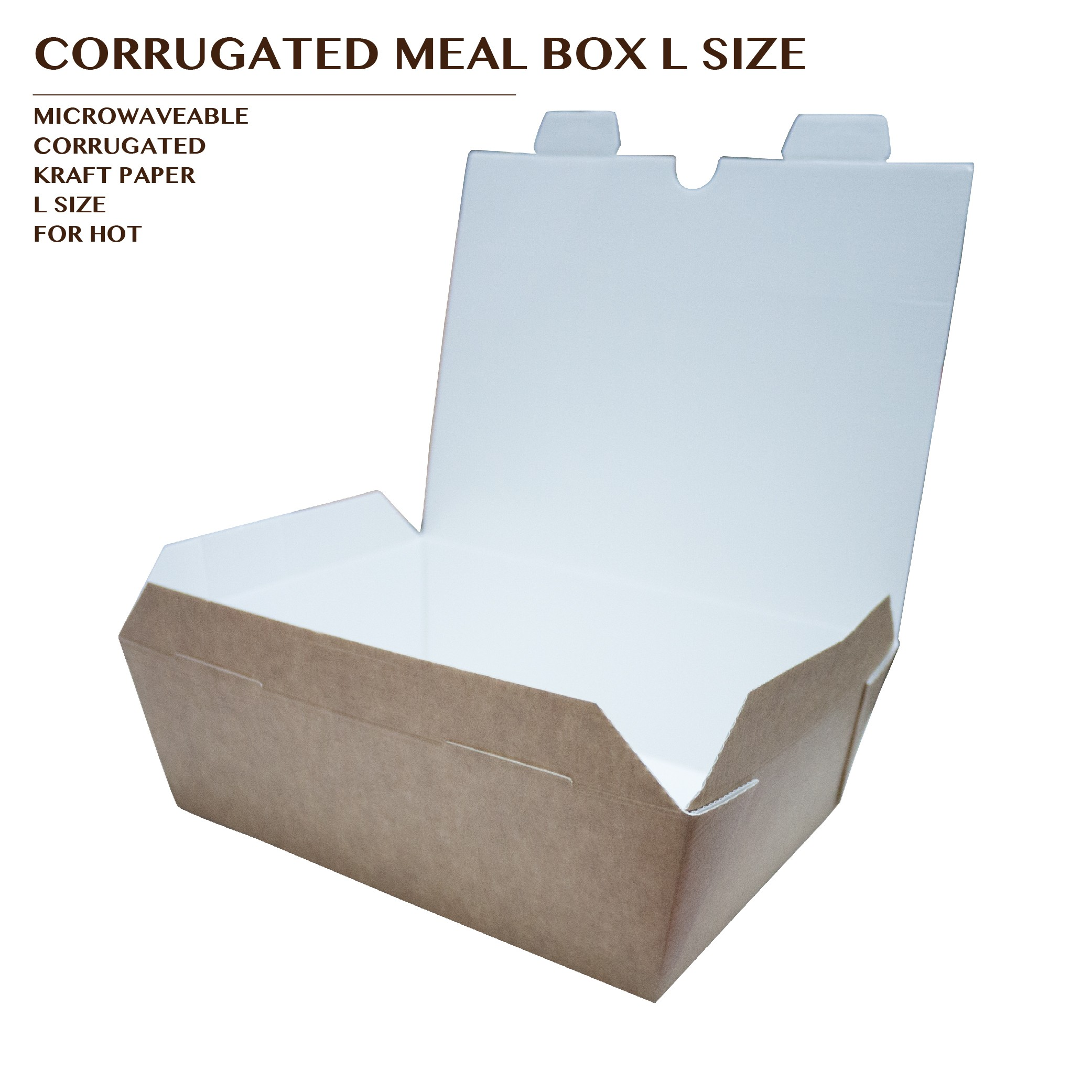 PRE-ORDER CORRUGATED MEAL BOX KRAFT L SIZE 1000PCS/CTN