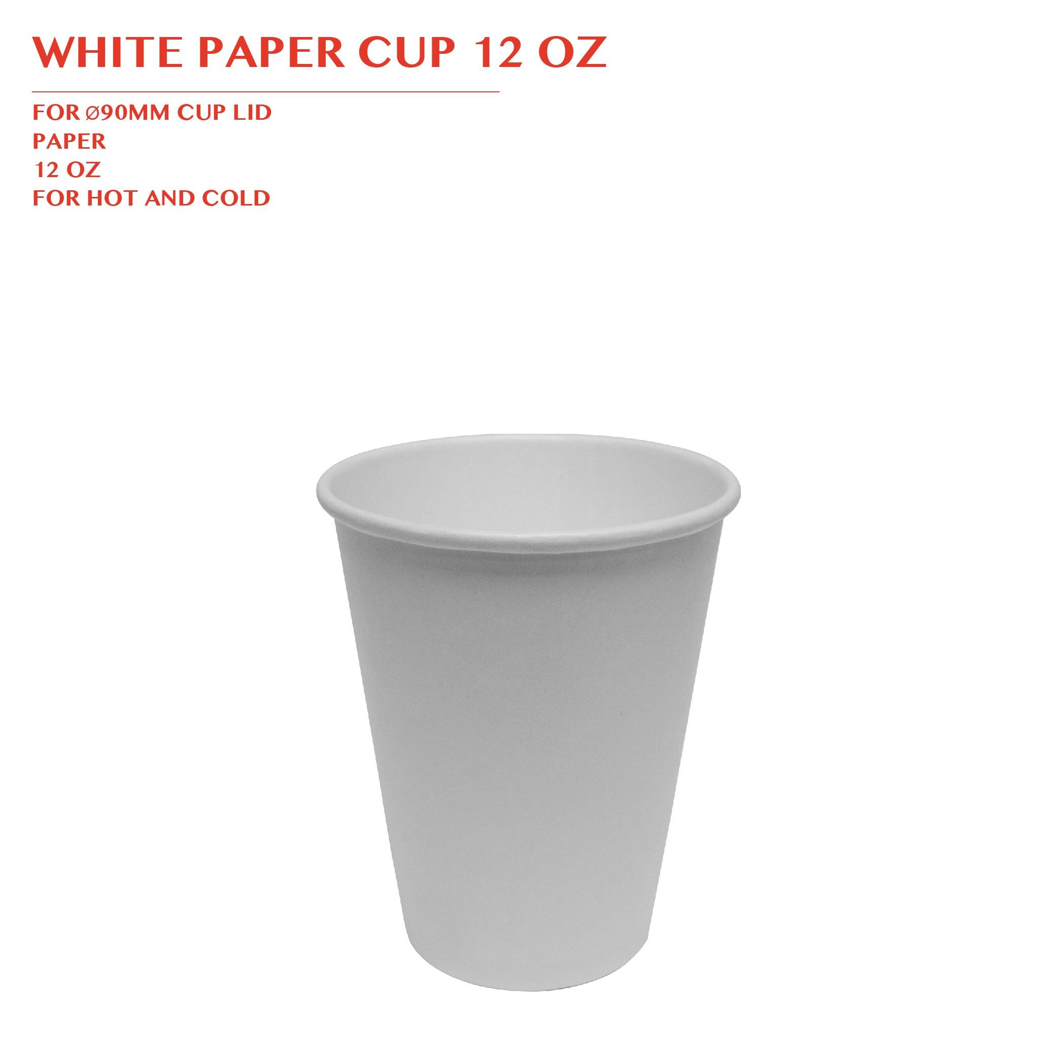 PRE-ORDER WHITE PAPER CUP 12 OZ 1000PCS/CTN