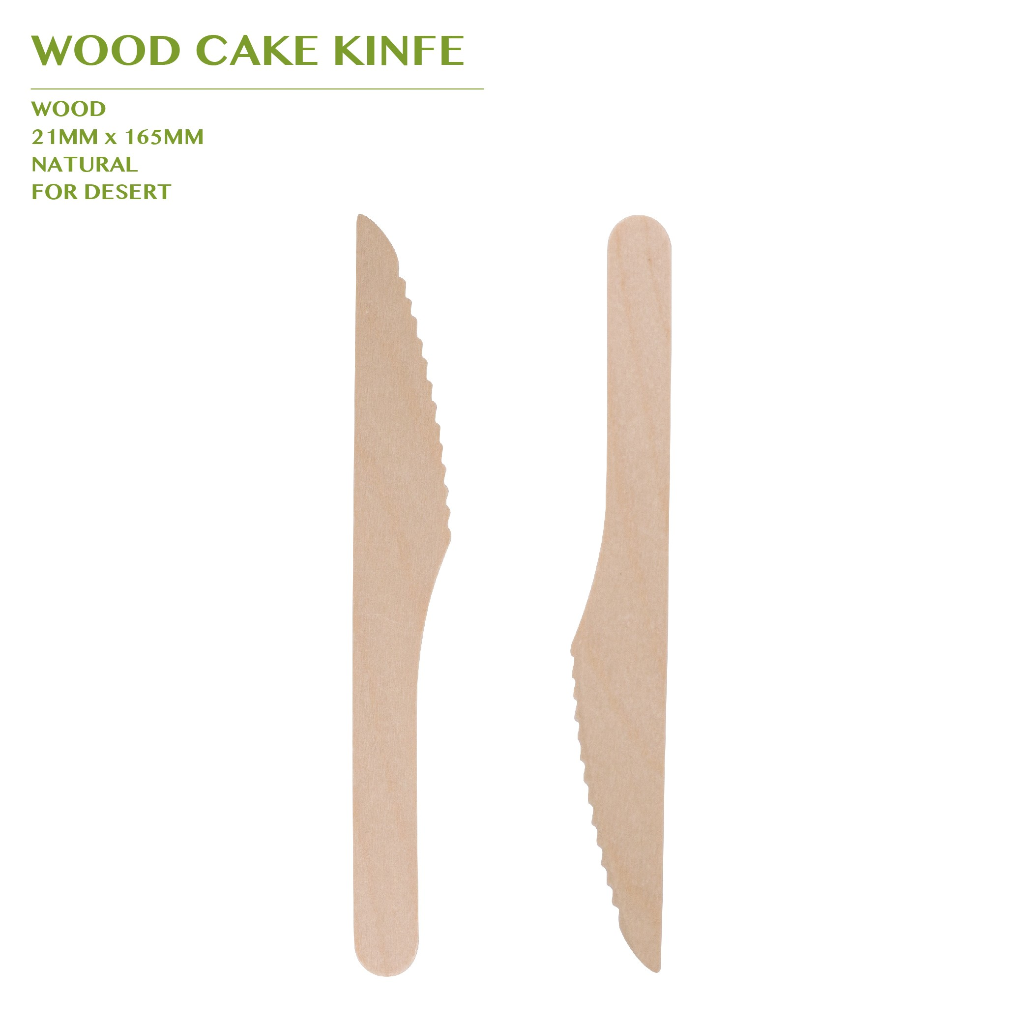 PRE-ORDER WOOD CAKE KINFE