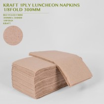 PRE-ORDER KRAFT 1PLY LUNCHEON NAPKINS  1/8FOLD 300MM 250PACK