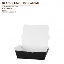 PRE-ORDER BLACK LUNCH BOX 600ML 600PCS/CTN