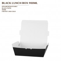 PRE-ORDER BLACK LUNCH BOX 900ML PCS/CTN