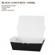 PRE-ORDER BLACK LUNCH BOX 1200ML PCS/CTN