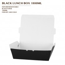 PRE-ORDER BLACK LUNCH BOX 1800ML PCS/CTN