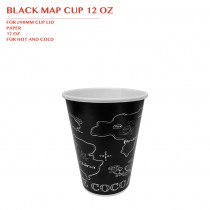 PRE-ORDER BLACK MAP CUP 12 OZ 1000PCS/CTN