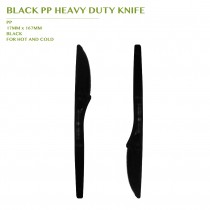 PRE-ORDER BLACK PP HEAVY DUTY KNIFE 1000 PCS/CTN(167MM)