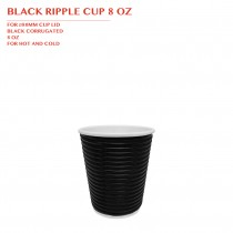 PRE-ORDER BLACK RIPPLE CUP 8 OZ 500PCS/CTN