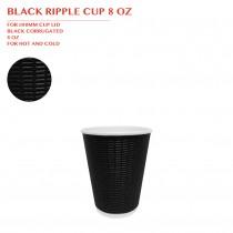 PRE-ORDER BBLACK RIPPLE CUP 8 OZ 500PCS/CTN