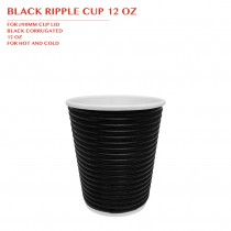PRE-ORDER BLACK RIPPLE CUP 12 OZ 500PCS/CTN