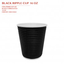 PRE-ORDER BLACK RIPPLE CUP 16 OZ 500PCS/CTN