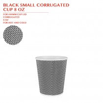 BLACK SMALL CORRUGATED  CUP 8 OZ 500PCS/CTN
