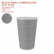 PRE-ORDER BLACK SMALL CORRUGATED  CUP 16 OZ 500PCS/CTN