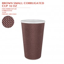 PRE-ORDER BROWN SMALL CORRUGATED  CUP 16 OZ 500PCS/CTN
