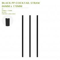 PRE-ORDER BLACK PP COCKTAIL STRAW  Ø6MM x 170MM