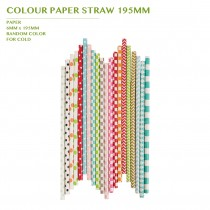 COLOUR PAPER STRAW 195MM 10,000PCS/CTN