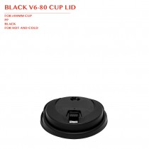BLACK V6-80 CUP LID Ø80MM 1000PCS/CTN