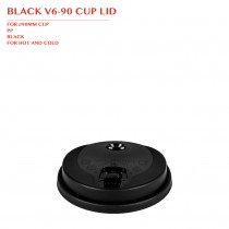 BLACK V6-90 CUP LID Ø90MM 1000PCS/CTN