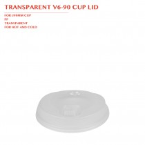 TRANSPARENT V6-90 CUP LID Ø90MM 1000PCS/CTN