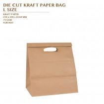 PRE-ORDER DIE CUT KRAFT PAPER BAG L SIZE 1500PCS/CTN
