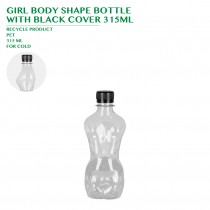 PRE-ORDER GIRL BODY SHAPE BOTTLE WITH BLACK COVER 315ML