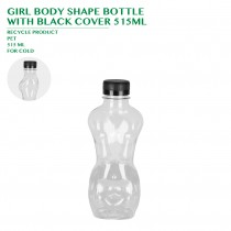 PRE-ORDER GIRL BODY SHAPE BOTTLE WITH BLACK COVER 515ML