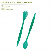 PRE-ORDER GREEN PS SUNDAE SPOON 2000PCS/CTN