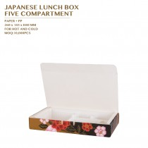 PRE-ORDER JAPANESE LUNCH BOX  FIVE COMPARTMENT 400SET/CTN