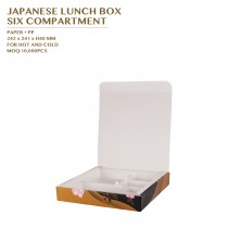 PRE-ORDER JAPANESE LUNCH BOX  SIX COMPARTMENT 300SET/CTN