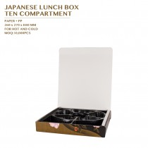 PRE-ORDER JAPANESE LUNCH BOX  TEN COMPARTMENT 200SET/CTN