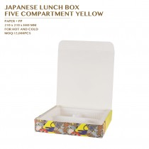 PRE-ORDER JAPANESE LUNCH BOX  FIVE COMPARTMENT YELLOW 400SET/CTN