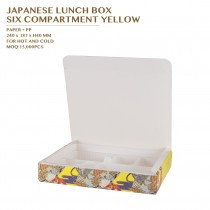 PRE-ORDER JAPANESE LUNCH BOX  SIX COMPARTMENT YELLOW 400SET/CTN