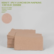 PRE-ORDER KRAFT 1PLY LUNCHEON NAPKINS  1/4FOLD 300MM 250PACK
