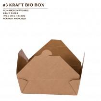 PRE-ORDER #3 KRAFT BIO BOX 200PCS/CTN