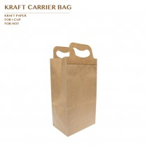 PRO-ORDER KRAFT CARRIER BAG FOR 1 CUP 1000PCS/CTN