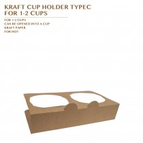 PRE-ORDER KRAFT CUP HOLDER TYPEC  FOR 1-2 CUPS PCS/CTN
