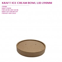 PRE-ORDER KRAFT ICE CREAM BOWL LID Ø90MM PCS/CTN