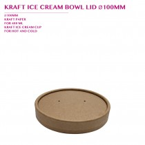 PRE-ORDER KRAFT ICE CREAM BOWL LID Ø100MM PCS/CTN