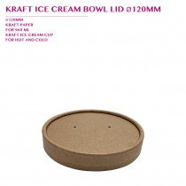 PRE-ORDER KRAFT ICE CREAM BOWL LID Ø120MM PCS/CTN