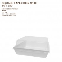 PRE-ORDER SQUARE PAPER BOX WITH PET LID 800 SET/CTN