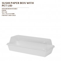 PRE-ORDER SUSHI PAPER BOX WITH  PET LID 900 SET/CTN