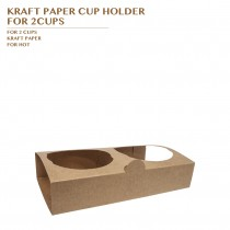 PRE-ORDER KRAFT PAPER CUP HOLDER  FOR 2CUPS PCS/CTN