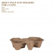 PRE-ORDER KRAFT PULP CUP HOLDERS  FOR 2 CUPS
