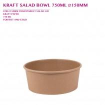PRE-ORDER KRAFT SALAD BOWL 750ML Ø150MM 300PCS/CTN