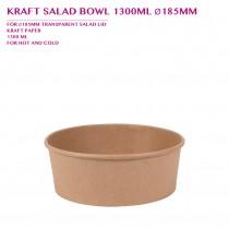 PRE-ORDER KRAFT SALAD BOWL 1300ML Ø185MM 300PCS/CTN