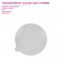 TRANSPARENT SALAD LID Ø150MM 600PCS/CTN