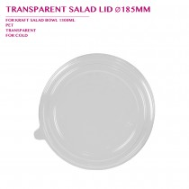TRANSPARENT SALAD LID Ø185MM 600PCS/CTN